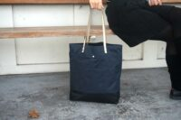 AUT- Navy Blue Wax Canvas Tote Bag (8)-1